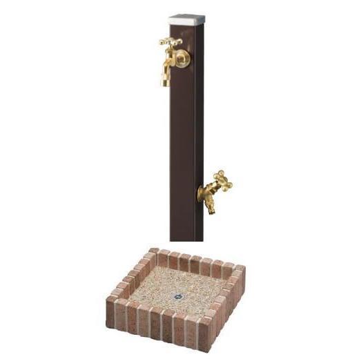 送料無料 立水栓スプレ蛇口2個付きネオキャスティパンセット ユニソン