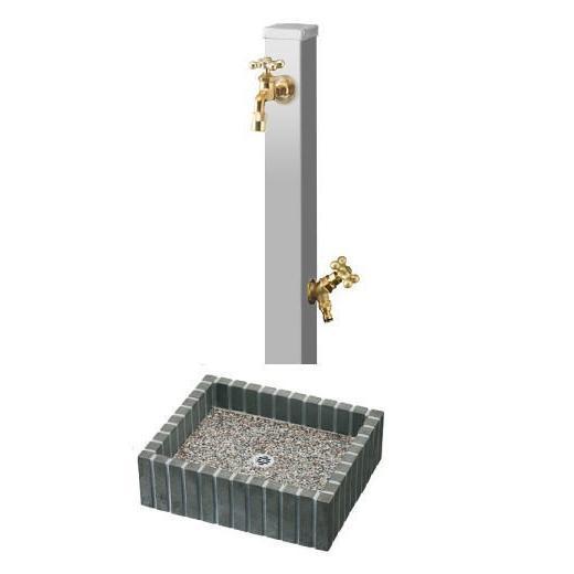 送料無料 立水栓スプレ蛇口2個付きフレウスブリックパンセット ユニソン