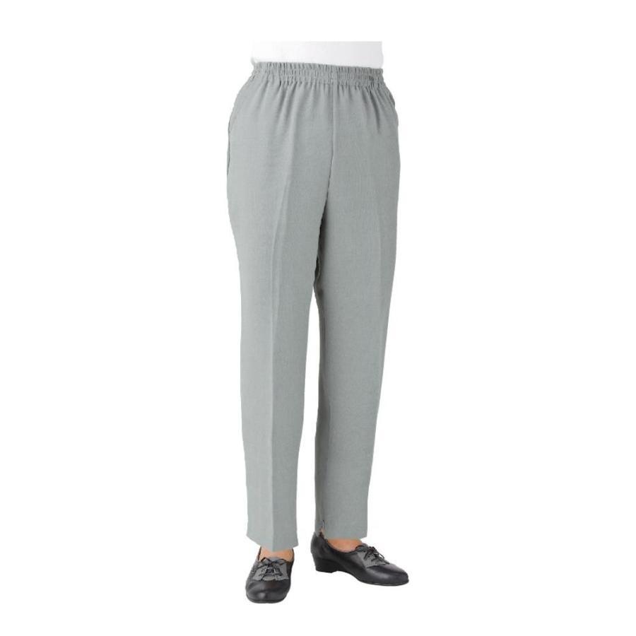 柔らかな質感の 39050-45 3L(股下55cm) グレー 吸汗速乾裾ファスナーパンツ(婦人)-介護用品