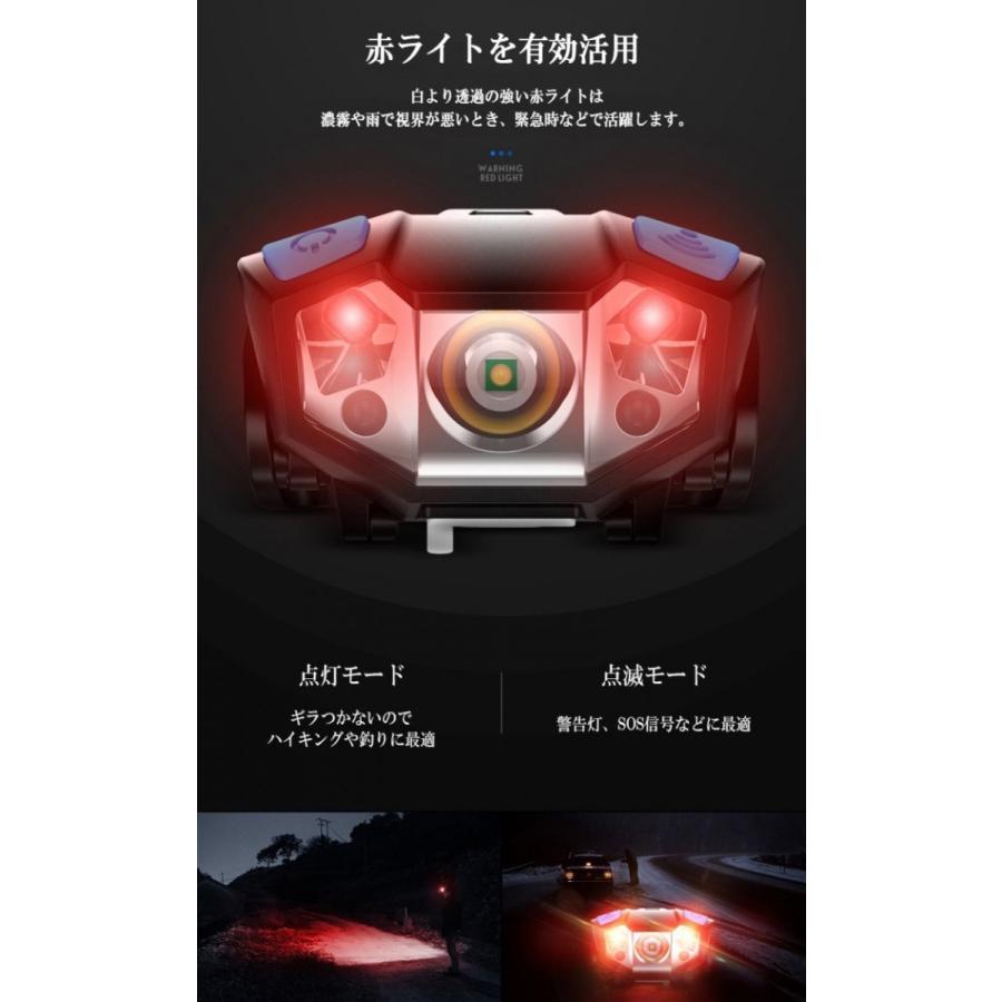 LEDヘッドライト 充電式 電池付属 ヘッドランプ 軽量 センサー機能付 5000ルーメン 5モード点灯 角度調節可 アウトドア キャンプ 防災 登山|lifeideas|05