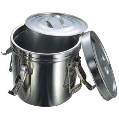 EBM-7311210 18-8 フック付 ダブル食缶 10L(シリコンパッキン) (EBM7311210)