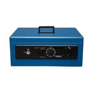 ds-1100472 手提げ金庫 A4 深型 SBX-A4 ブルー ブルー ブルー 1台 (ds1100472) f60