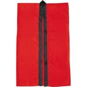 ds-1562112 (まとめ)アーテック サテン製はっぴ/法被 【Sサイズ】 ロング丈 袖なし ハチマキ付き レッド(赤) 【×40セット】 (ds1562112)