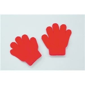 ds-1562437 (まとめ)アーテック ミニのびのび手袋 【幼児〜子供用サイズ】 アクリル製 レッド(赤) 【×40セット】 (ds1562437)