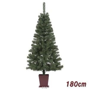ds-1874627 クリスマスツリー/オブジェ 【180cmサイズ】 四角ポット付き 『カナディアンツリー』 〔イベント パーティー〕 (ds1874627)