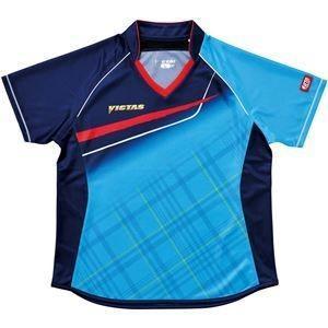 ds-1907005 ヤマト卓球 VICTAS(ヴィクタス) 卓球アパレル V-LS037 Viscotecs ゲームシャツ(女子用) 031460 ブルー XXOサイズ (ds1907005)