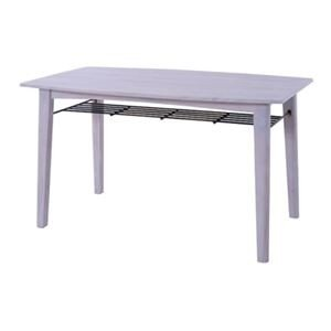 ds-2173524 ダイニングテーブル/食卓テーブル 【ホワイト 幅130cm】 幅130cm】 木製 棚板1枚付き 『ブリジット』 〔リビング ダイニング〕【代引不可】