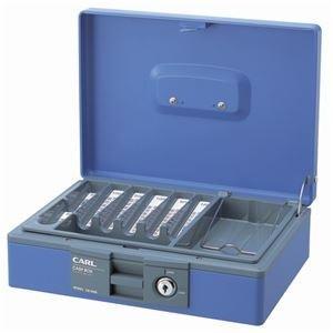 ds-2219030 (まとめ)カール事務器 キャッシュボックスコインカウンター内蔵 W276×D210×H81mm 青 CB-8400-B 1台【×3セット】 (ds2219030)