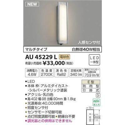 コイズミ AU45229L 防雨型ブラケット 防雨型ブラケット
