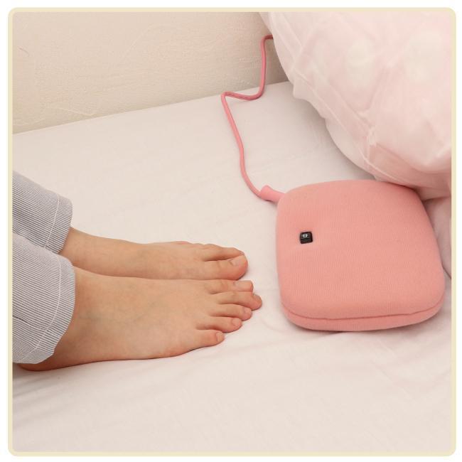 ライフジョイ 電気あんか 平形 温度調節つき 電気 湯たんぽ 省エネ 16cm×23cm ピンク AH601|lifejoy|03
