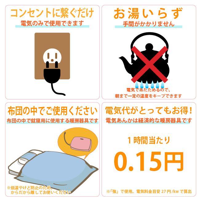 ライフジョイ 電気あんか 平形 温度調節つき 電気 湯たんぽ 省エネ 16cm×23cm ピンク AH601|lifejoy|05