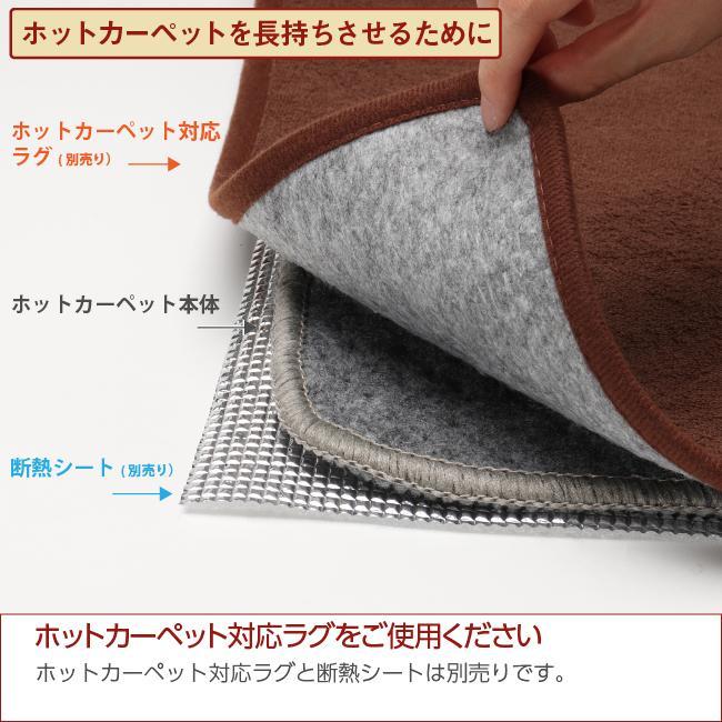 ライフジョイ ホットカーペット 2.5畳 日本製 195cm×195cm グレー 省エネ 暖房面切換 8時間OFF機能付き スライド温度調節 JPC251H|lifejoy|07