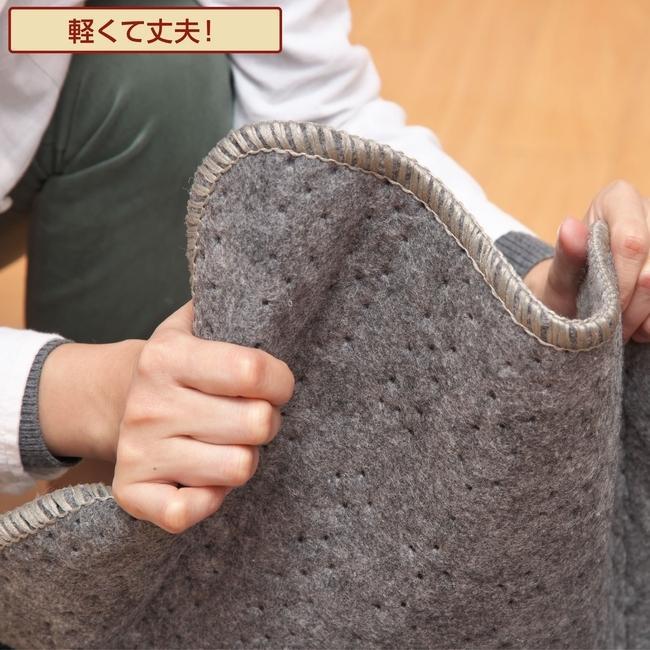 ライフジョイ ホットカーペット 3畳 日本製 235cm×195cm グレー コンパクト収納 省エネ 暖房面切換 8時間OFF機能付き スライド温度調節 JPU301H|lifejoy|07