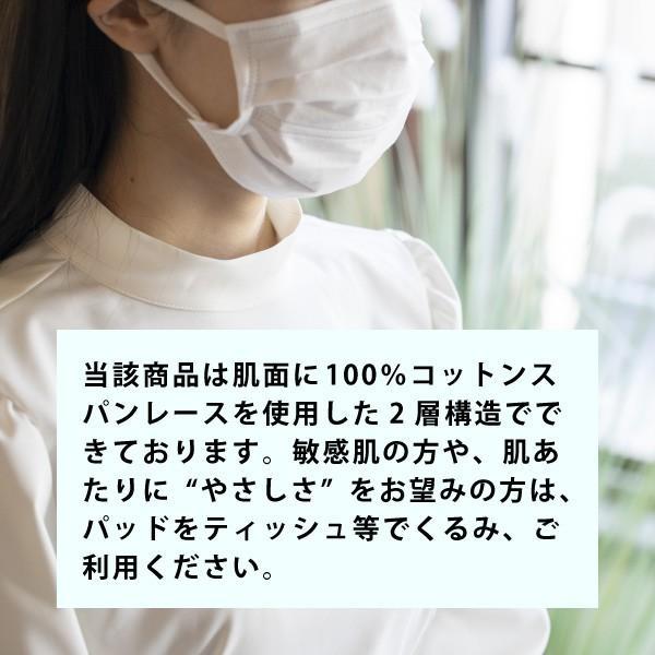 マスク用インナーパッド Mask Plus +α 100枚入 ウイルス PM2.5 花粉対策 使い捨てシート 天然コットン お肌に優しいマスクフィルター 日本製 二重マスク lifeplussky22 07