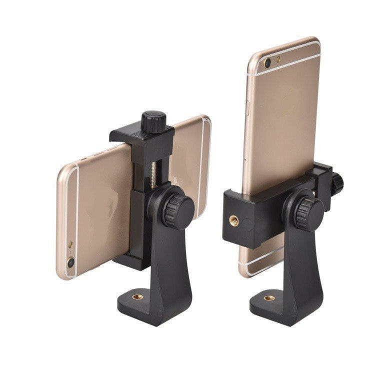 iPhoneXSなどスマホ対応ホルダー 手持ち 縦撮 横撮 360度回転 自撮棒 三脚などに取付可 アタッチメントホルダー 幅58〜101mmスマホ対応 LP-HADST360|lifepowershop|02