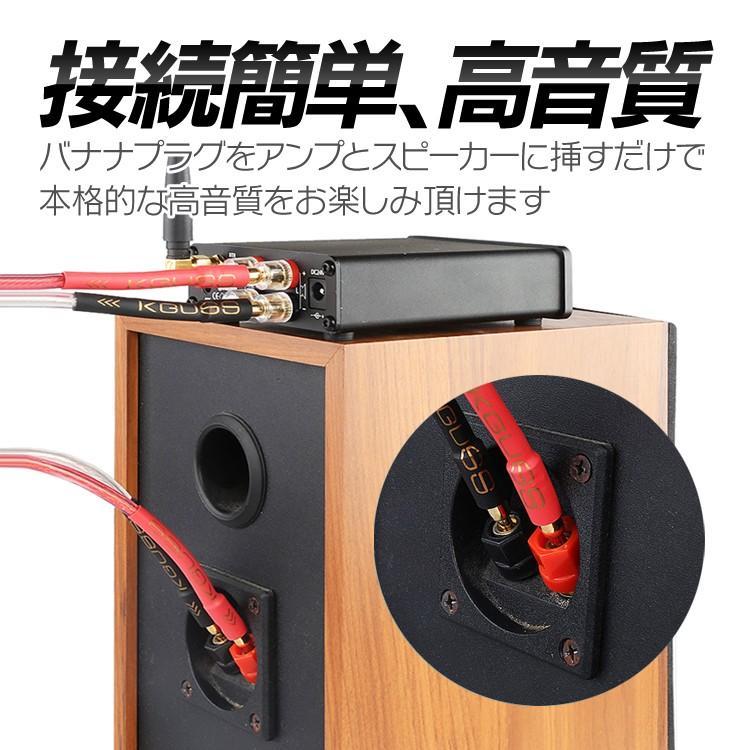 バナナプラグ付 スピーカーケーブル 金メッキ 1m 300芯×2 最大700W高出力 高純度無酸素銅芯使用 高品質伝送 信号損失を最小限に 低ノイズ LP-BANPC1M lifepowershop 05