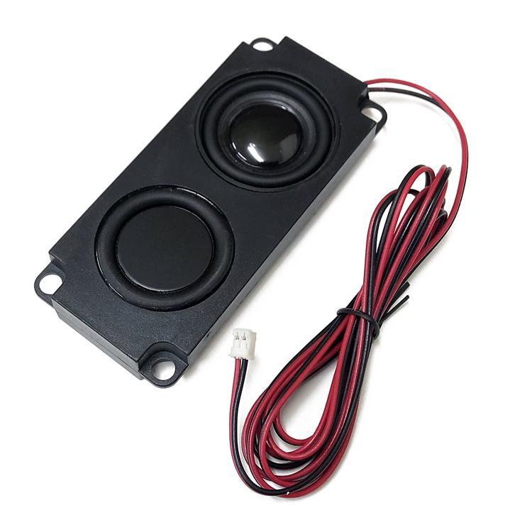 ミニスピーカーユニット 4Ω5W パッシブスピーカー ダブルダイヤフラム 小型軽量 薄型設計 フルレンジスピーカー 広音域 高音質 テレビスピーカー LP-PAS10045|lifepowershop