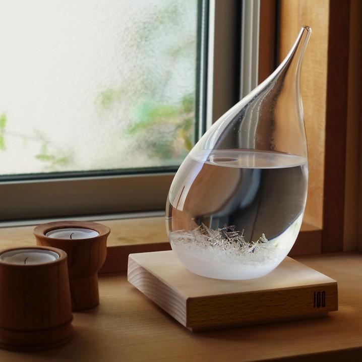 テンポドロップ 正規品 100percent ストームグラス Tempo Drop インテリア ガラス しずく型 置物|lifestyleweb
