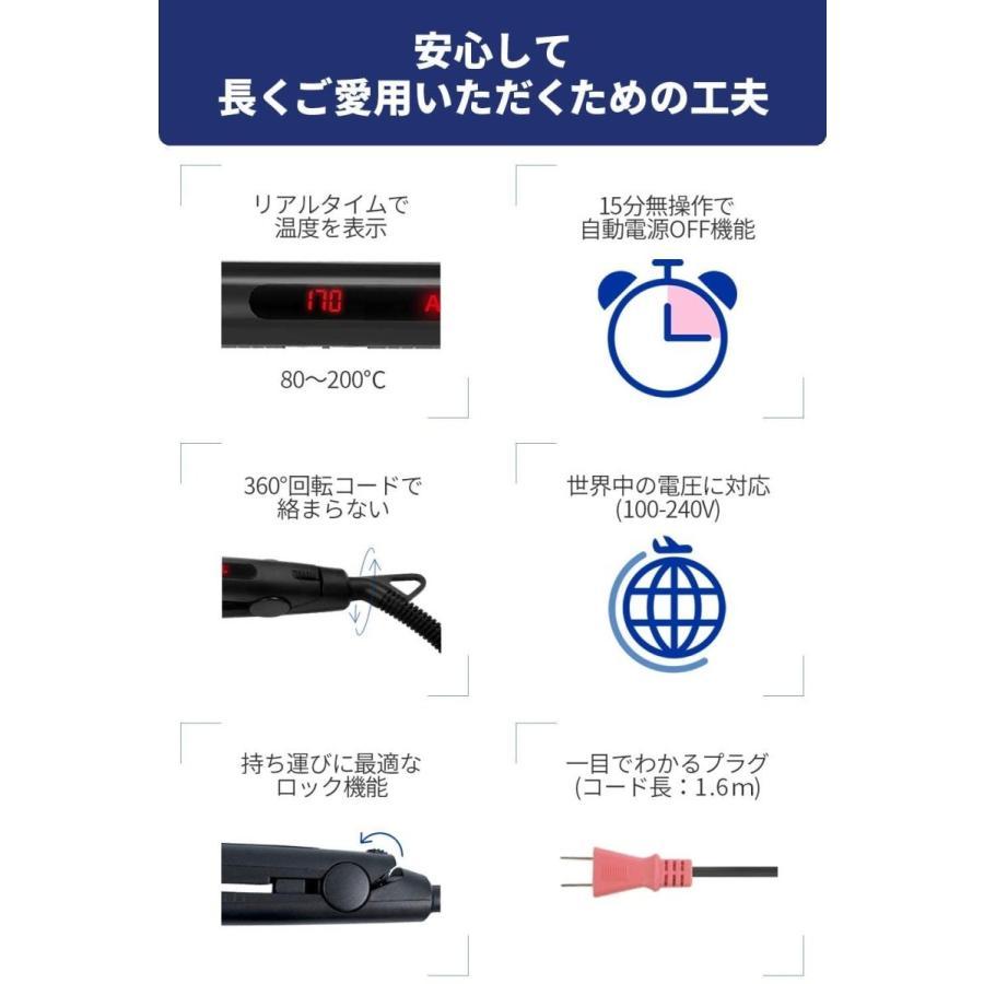 Areti(アレティ) 20mm ストレート カール ヘアアイロン ART.i679BK (ブラック)|lightlyrow|02