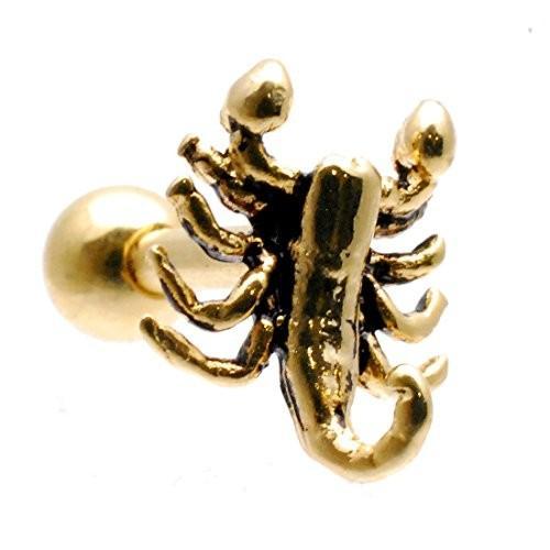 THREE NINE スリーナイン 14G さそり 爬虫類 ボディピアス 片耳ピアス 軟骨 TBP050 (BK)|lightlyrow|07