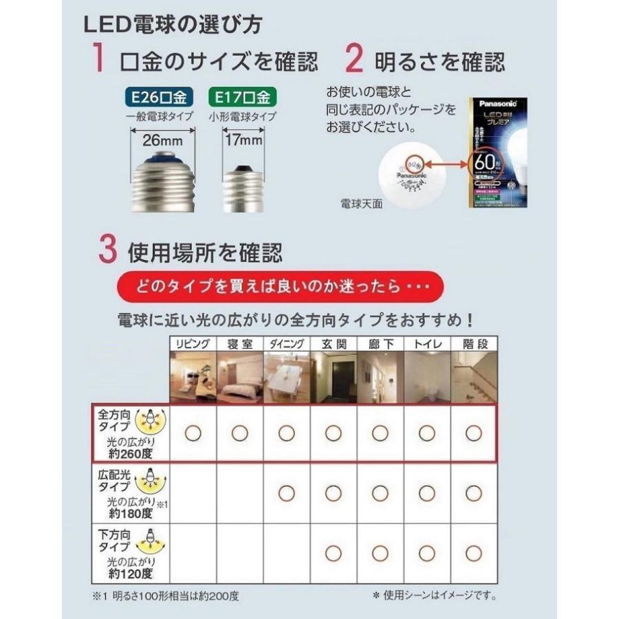 パナソニック LED電球 口金直径26mm 電球60形相当 昼光色相当(6.9W) 一般電球 下方向タイプ 1個入り 密閉器具対応 LDA7 lightlyrow 04