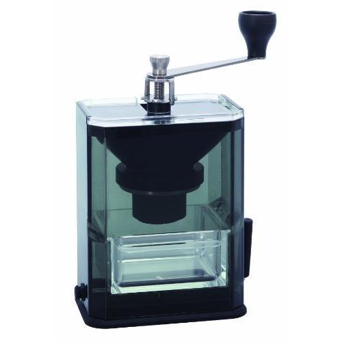 HARIO (ハリオ) 手挽き コーヒーミル クリア コーヒーグラインダー MXR-2TB ブラック lightlyrow