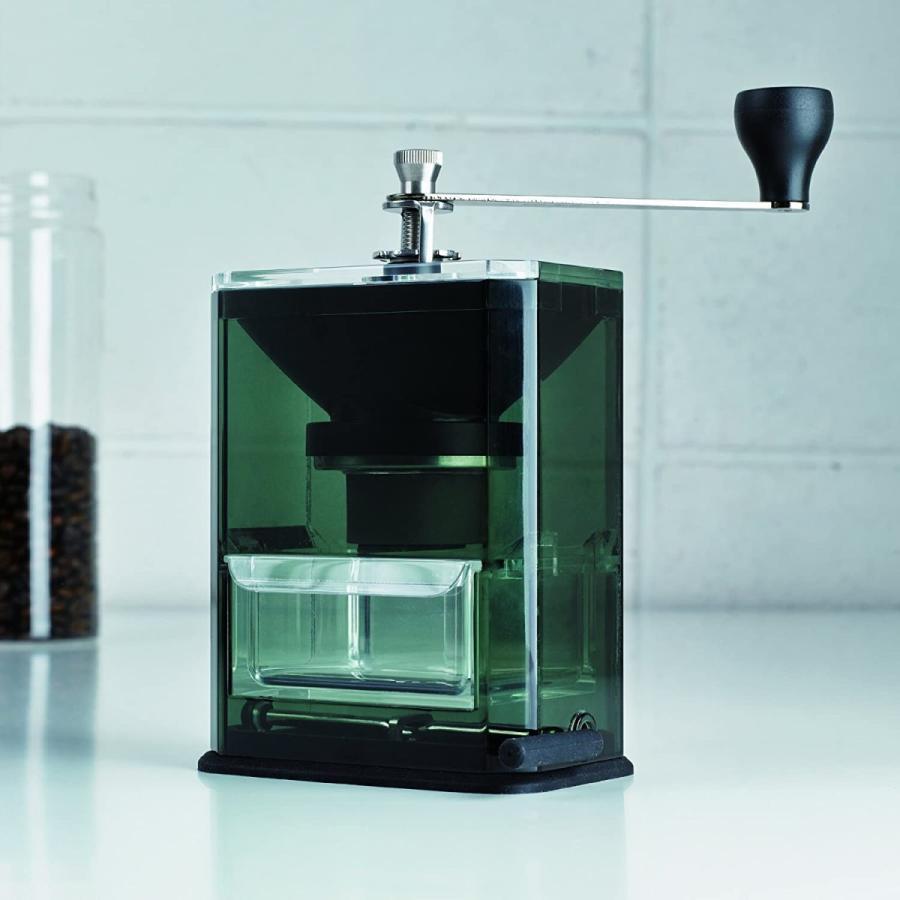HARIO (ハリオ) 手挽き コーヒーミル クリア コーヒーグラインダー MXR-2TB ブラック lightlyrow 04