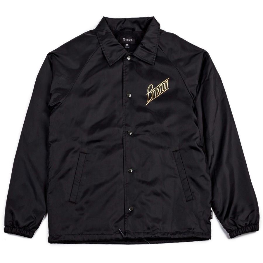 【BRIXTON】WILSON 黒/ゴールド COACH JACKET  コーチ ジャケット 黒 (黒)