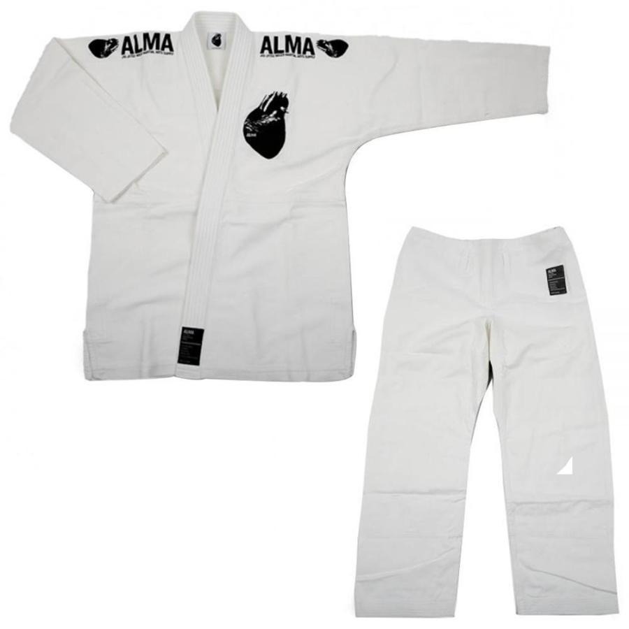 ALMA アルマ レギュラーキモノ 国産柔術衣 A3 白 上下 JU1-A3-WH 送料無料