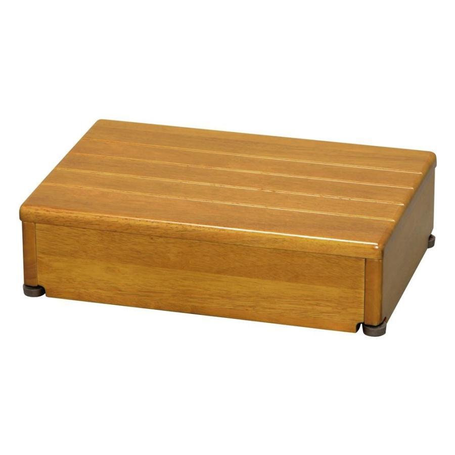 木製玄関台 木製玄関台 1段型 ライトブラウン 45W-30-1段 送料無料