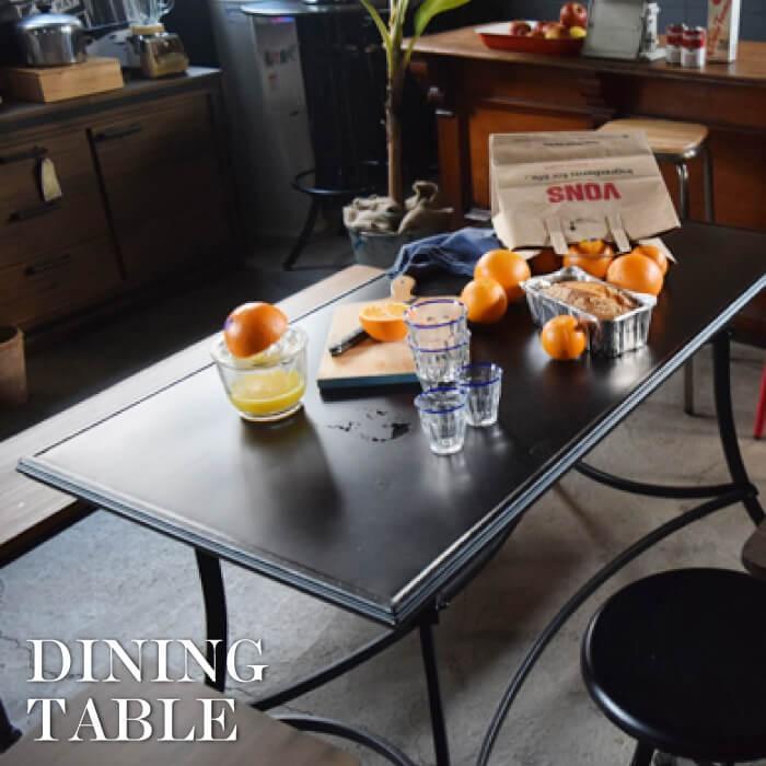 アンクル ダイニングテーブル スチール製 カフェテーブル リビングテーブル フロアテーブル おしゃれ インダストリアル 男前 新生活 ELS-214|lily-birch
