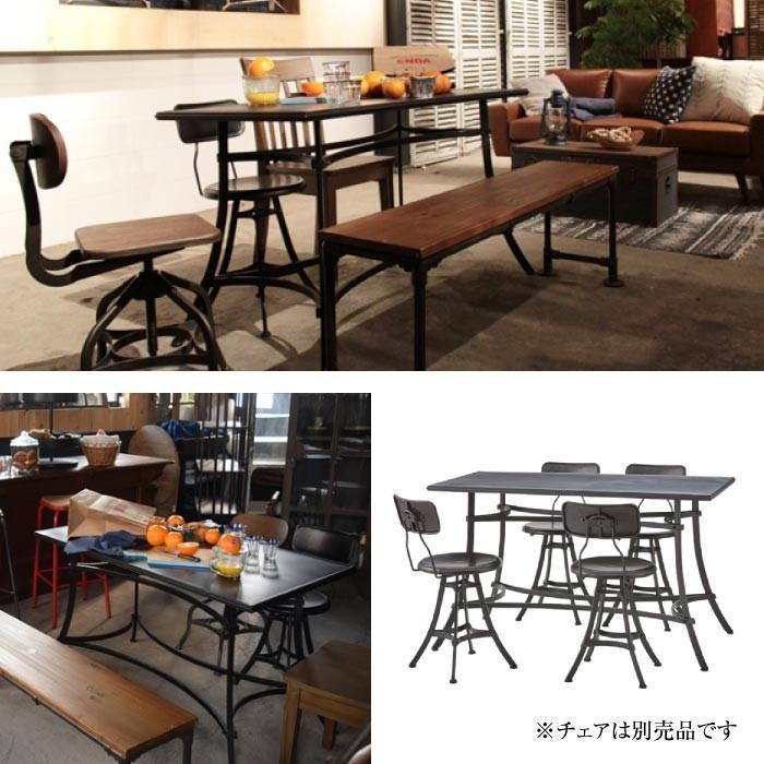 アンクル ダイニングテーブル スチール製 カフェテーブル リビングテーブル フロアテーブル おしゃれ インダストリアル 男前 新生活 ELS-214|lily-birch|02