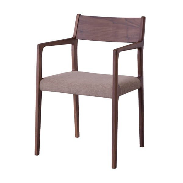 インダストリアル アームチェア リビングチェア イス 椅子 チェアー 天然木 ウォルナット チェア 天然木 日本国産 北欧 カフェ 肘付き JPC-122WAL lily-birch