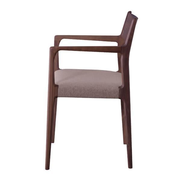 インダストリアル アームチェア リビングチェア イス 椅子 チェアー 天然木 ウォルナット チェア 天然木 日本国産 北欧 カフェ 肘付き JPC-122WAL lily-birch 05