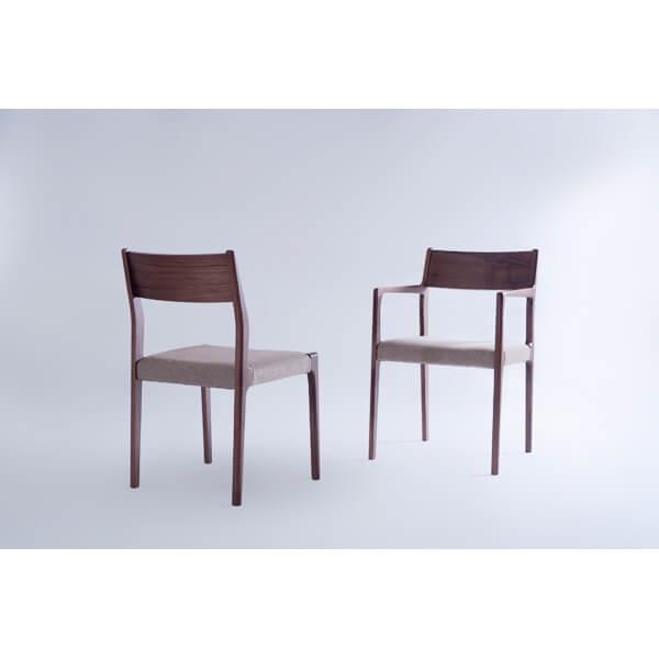 インダストリアル アームチェア リビングチェア イス 椅子 チェアー 天然木 ウォルナット チェア 天然木 日本国産 北欧 カフェ 肘付き JPC-122WAL lily-birch 07