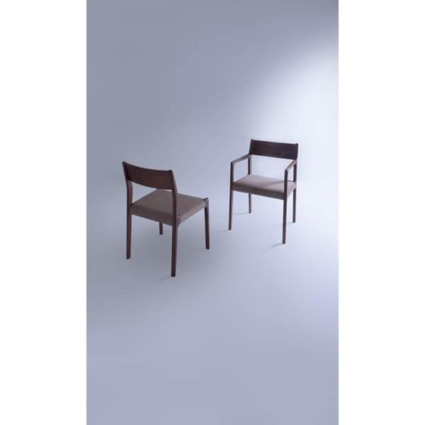 インダストリアル アームチェア リビングチェア イス 椅子 チェアー 天然木 ウォルナット チェア 天然木 日本国産 北欧 カフェ 肘付き JPC-122WAL lily-birch 08