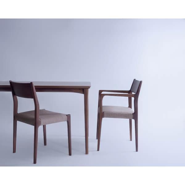 インダストリアル アームチェア リビングチェア イス 椅子 チェアー 天然木 ウォルナット チェア 天然木 日本国産 北欧 カフェ 肘付き JPC-122WAL lily-birch 09