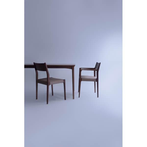 インダストリアル アームチェア リビングチェア イス 椅子 チェアー 天然木 ウォルナット チェア 天然木 日本国産 北欧 カフェ 肘付き JPC-122WAL lily-birch 10
