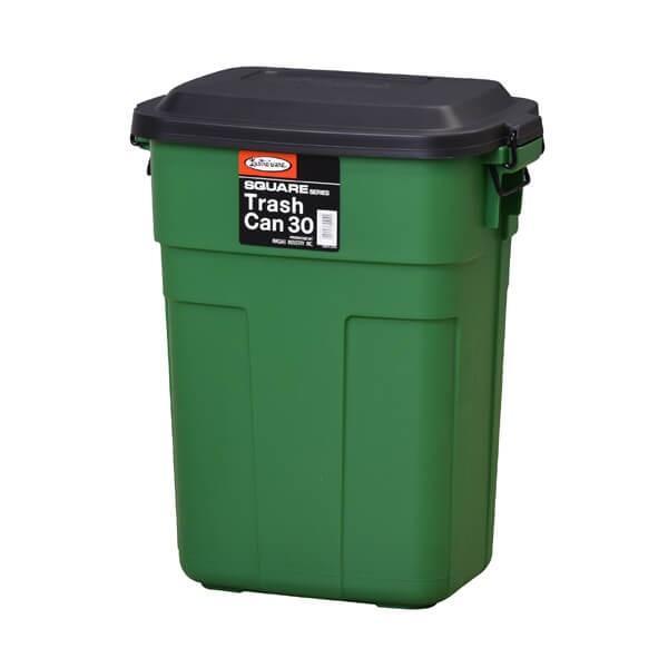 トラッシュカン 30L アメリカン ダストボックス おしゃれ スリム ふた付き ゴミ箱 ごみ ロック式 カラフル おむつ 生ゴミ 屋外 屋内 引越 L-941|lily-birch|04