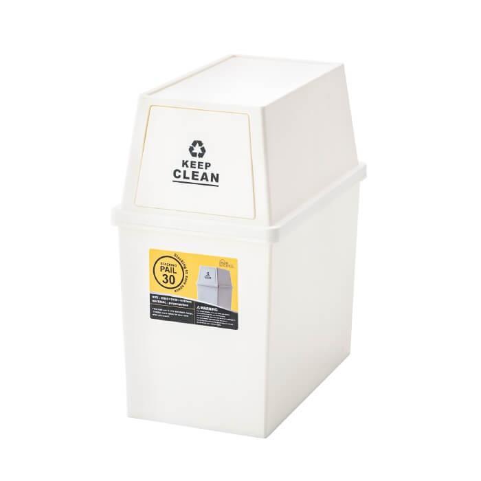 スタッキングペール 30L ダストボックス ごみ箱 清潔 シンプル ふた付き ゴミ分別 ゴミ箱 フタ付き キャスター付 小型 コンパクト 日本製 新生活 LFS-760 lily-birch 05
