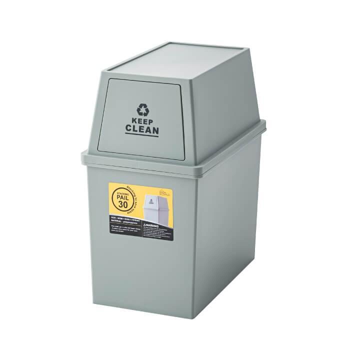 スタッキングペール 30L ダストボックス ごみ箱 清潔 シンプル ふた付き ゴミ分別 ゴミ箱 フタ付き キャスター付 小型 コンパクト 日本製 新生活 LFS-760 lily-birch 06