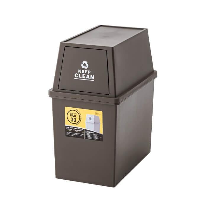 スタッキングペール 30L ダストボックス ごみ箱 清潔 シンプル ふた付き ゴミ分別 ゴミ箱 フタ付き キャスター付 小型 コンパクト 日本製 新生活 LFS-760 lily-birch 07