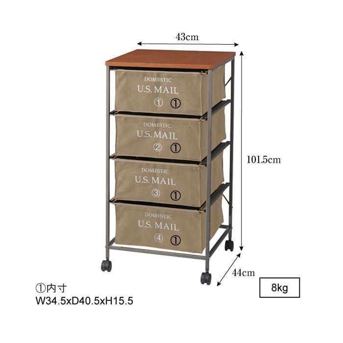 US MAIL ファブリックチェスト 4D チェスト キャスター付き 衣類収納 ランドリー おしゃれ 収納 収納ボックス アメリカン MIP-374BE MIP-374GR MIP-374NV|lily-birch|03