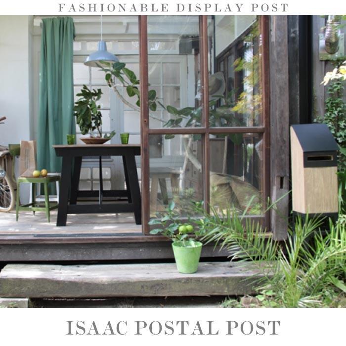 ISAAC アイザック 玄関ポスト 郵便ポスト スタンドポスト 置き型ポスト メールボックス 郵便ボックス スチール スタンドタイプ スリム モダン NW-861|lily-birch|02