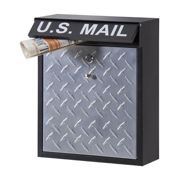 U.S.MAIL デザイン ポスト Bタイプ メールボックス 郵便ポスト 壁掛けポスト 玄関ポスト 鍵付き おしゃれ 男前 アメリカン インダストリアル PST-215B|lily-birch|06