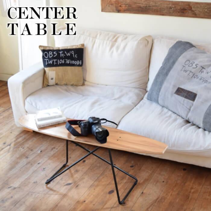 センターテーブル おしゃれ スケートボードテーブル サイドテーブル おしゃれ 西海岸 カリフォルニア ディスプレイラック 雑貨置き 小物置き SF-200|lily-birch