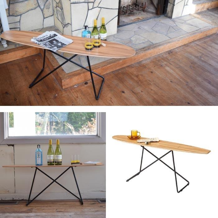 センターテーブル おしゃれ スケートボードテーブル サイドテーブル おしゃれ 西海岸 カリフォルニア ディスプレイラック 雑貨置き 小物置き SF-200|lily-birch|02