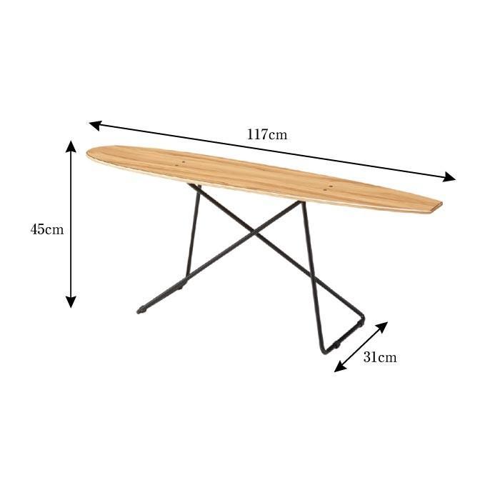 センターテーブル おしゃれ スケートボードテーブル サイドテーブル おしゃれ 西海岸 カリフォルニア ディスプレイラック 雑貨置き 小物置き SF-200|lily-birch|03