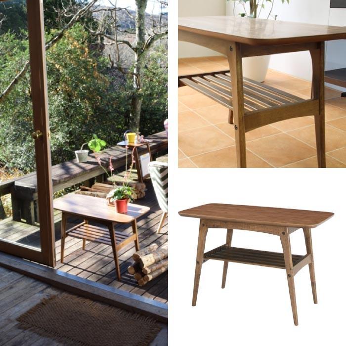 コーヒーテーブル Sサイズ 天然木 センターテーブル リビングテーブル コーヒーテーブル シンプル カフェ モダン ローテーブル TAC-227WAL lily-birch 02