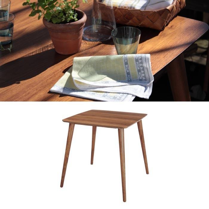 Tomte トムテ ダイニングテーブル ウォールナット 2人掛け 正方形 テーブル ウッドテーブ センターテーブル ダイニングセット おしゃれ 一人暮らし TAC-241WAL|lily-birch|02